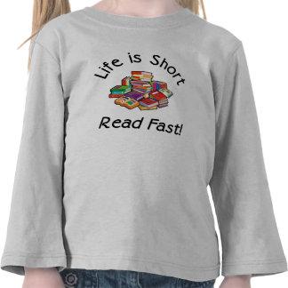 La vida es la manga larga T 4 colores del niño co Camiseta