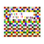 La vida es llena de color postales
