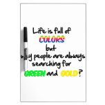 La vida es llena de colores pizarras