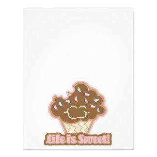 la vida es magdalena del chocolate dulce tarjetas informativas