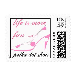 La vida es más zapatos lindos del lunar de la sellos