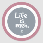 La vida es meh etiqueta redonda