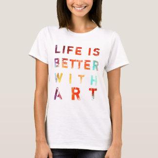 La vida es mejor con arte playera