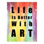 La vida es mejor con arte postal