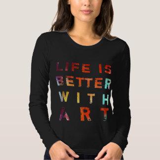 La vida es mejor con arte remeras