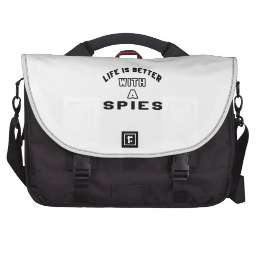 La vida es mejor con los espías bolsas de portatil