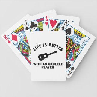 La vida es mejor con los jugadores del ukulele cartas de juego