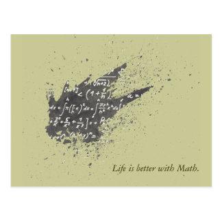 La vida es mejor con matemáticas postales