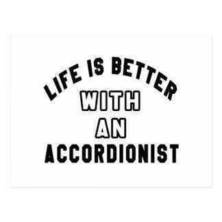La vida es mejor con un acordeonista tarjetas postales