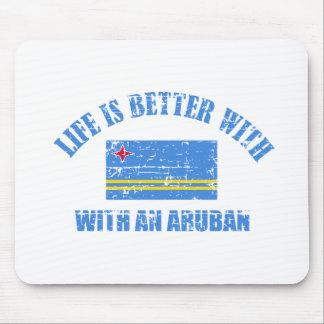 La vida es mejor con un ARUBAN Tapete De Raton