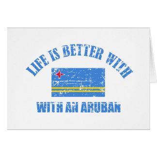 La vida es mejor con un ARUBAN Tarjeta De Felicitación