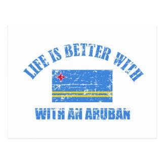 La vida es mejor con un ARUBAN Tarjeta Postal