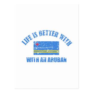 La vida es mejor con un ARUBAN Tarjetas Postales