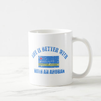 La vida es mejor con un ARUBAN Taza De Café