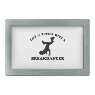 La vida es mejor con un bailarín de la rotura hebillas de cinturón rectangulares