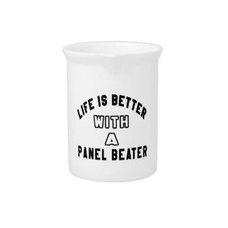 La vida es mejor con un batidor del panel jarra de beber
