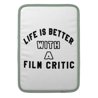La vida es mejor con un crítico de cine funda macbook air