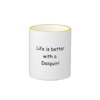 La vida es mejor con un daiquirí taza de dos colores