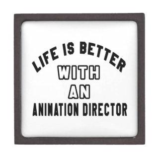 La vida es mejor con un director de la animación cajas de joyas de calidad