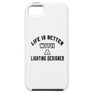 La vida es mejor con un diseñador de iluminación iPhone 5 protector