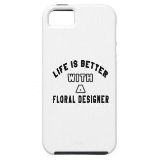 La vida es mejor con un diseñador floral iPhone 5 Case-Mate funda