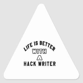 La vida es mejor con un escritor de corte pegatina triangular