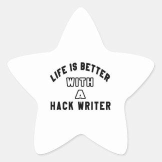 La vida es mejor con un escritor de corte pegatina en forma de estrella
