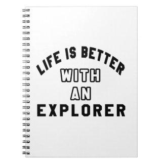 La vida es mejor con un explorador libretas espirales