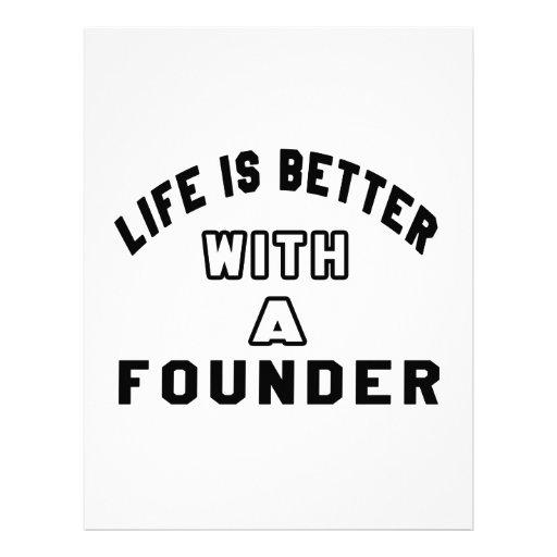 La vida es mejor con un fundador plantilla de membrete