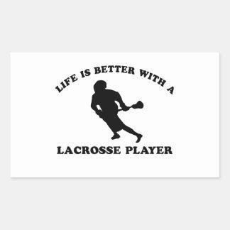 La vida es mejor con un jugador de LaCrosse Rectangular Altavoz