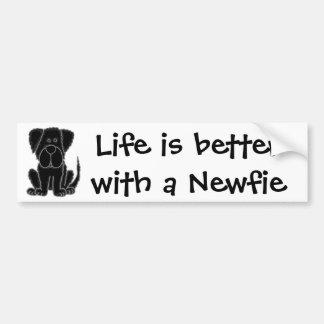La vida es mejor con un Newfie Pegatina Para Auto