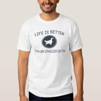 La vida es mejor con un organismo inglés playeras