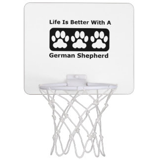 La vida es mejor con un pastor alemán minicanasta