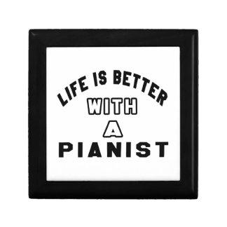 La vida es mejor con un pianista caja de joyas