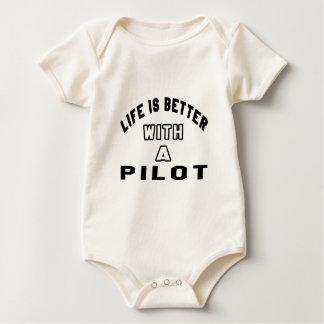 La vida es mejor con un piloto trajes de bebé