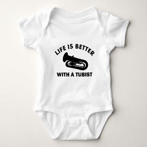 La vida es mejor con un tubist camisetas