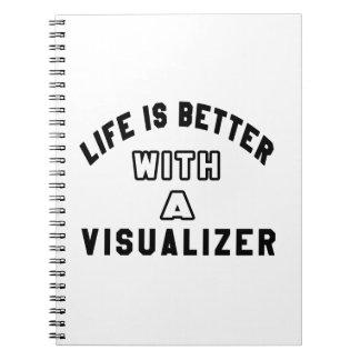 La vida es mejor con un VISUALIZADOR Libro De Apuntes Con Espiral