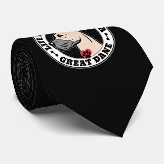 La vida es mejor con una raza del perro de great corbata