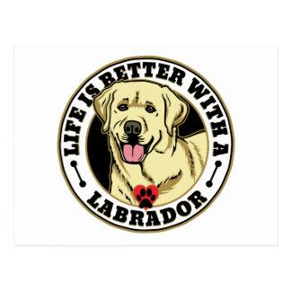 La vida es mejor con una raza del perro de postales