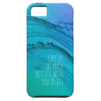 La vida es mejor con usted mindfulness de la tarje iPhone 5 cobertura