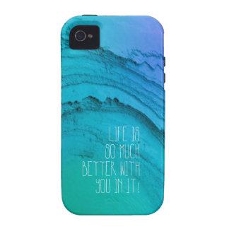 La vida es mejor con usted mindfulness de la tarje iPhone 4/4S carcasas