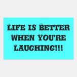 ¡La vida es mejor cuando usted está riendo!!! Rectangular Altavoces