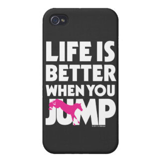 La vida es mejor cuando usted salta iPhone 4 protector