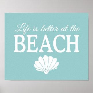 La vida es mejor en el poster de la playa