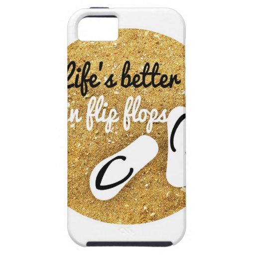 la vida es mejor en flips-flopes iPhone 5 Case-Mate protectores