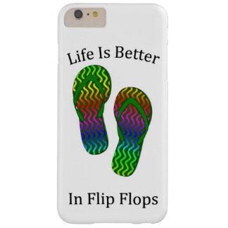 La vida es mejor en flips-flopes funda para iPhone 6 plus barely there