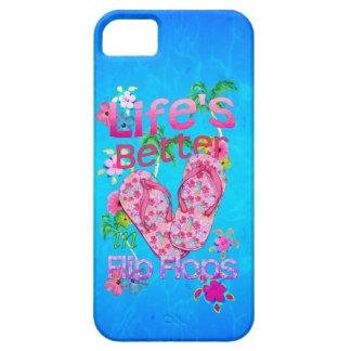La vida es mejor en flips-flopes funda para iPhone SE/5/5s