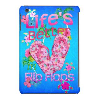 La vida es mejor en flips-flopes fundas de iPad mini retina