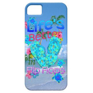La vida es mejor en flips-flopes iPhone 5 funda