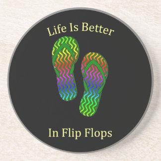 La vida es mejor en flips-flopes posavasos manualidades